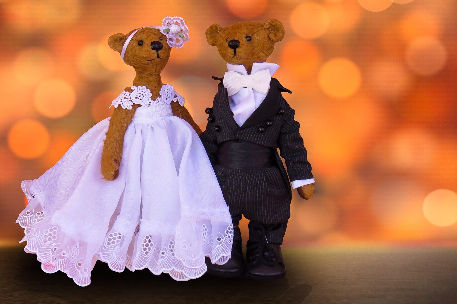 結婚している写真