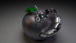 リンゴ型のロボット