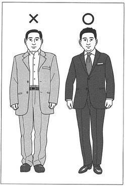 ゆったりと細いスーツの比較