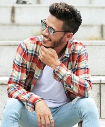チェックシャツ5